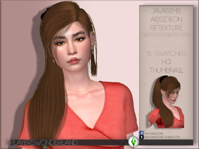 Javasims' Absideon Hair Retexture By Playerswonderland
