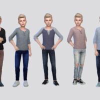 Basic Henley Shirt Boys By Mclaynesims