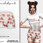 Pyjamas Set Watermelon Short Mc215 By Mermaladesimtr