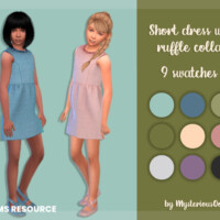Short Dress With Ruffle Collar By Mysteriousoo