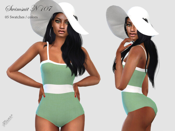 Sims 4 Swimsuit N 107 by pizazz at TSR
