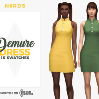 Demure Dress By Nords
