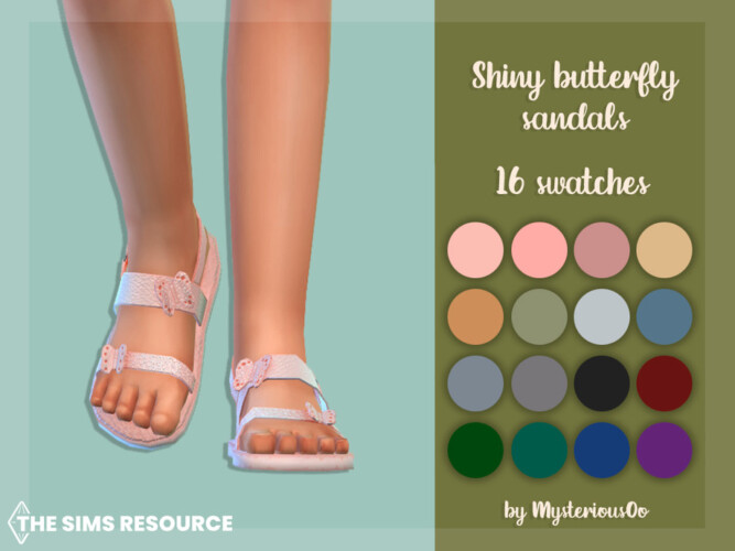 Shiny Butterfly Sandals By Mysteriousoo