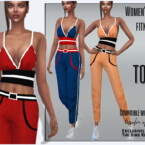Women's Fitness Suit Top By Sims House