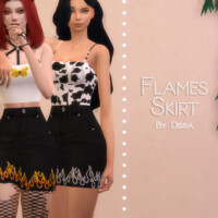 Flames Skirt By Dissia