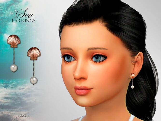 Sea Child Earrings By Suzue