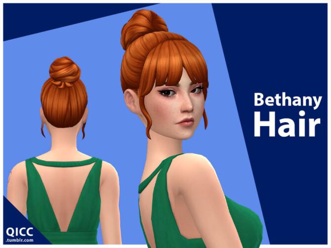 Sims 4 Bethany Hair by qicc at TSR