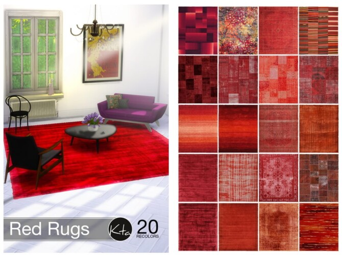 Sims 4 Red Rugs at Ktasims