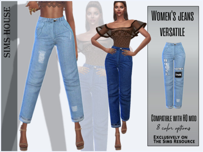 Women's Jeans Versatile By Sims House