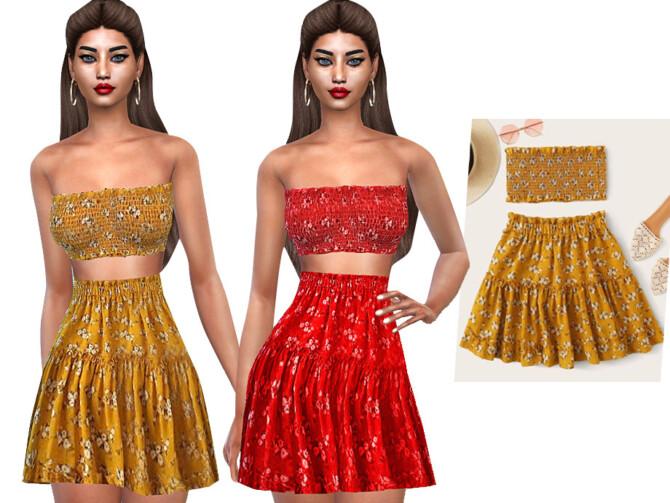 Sims 4 Ruffle Skirts by Saliwa at TSR
