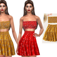 Smocked Strapless Blouses By Saliwa