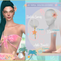 Dsf Tropical Sensation Accessories By Dansimsfantasy
