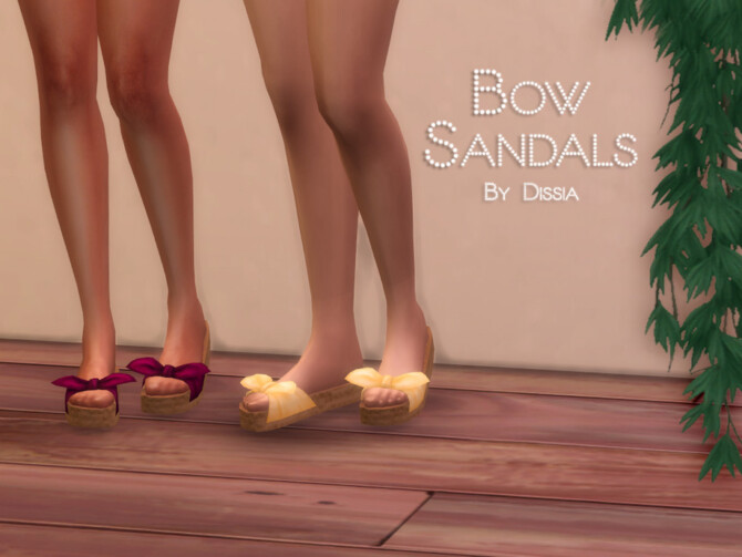 Sims 4 Bow Sandals by Dissia at TSR