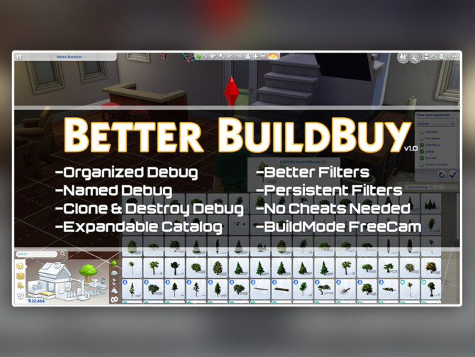 Sims 4 Better BuildBuy v1.6.4 by TwistedMexi at TSR
