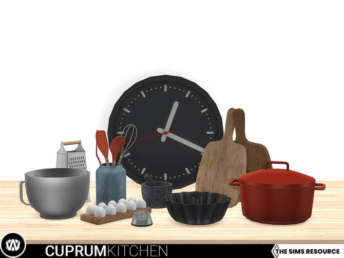 Sims 4 Cuprum Kitchen Decorations by wondymoon at TSR