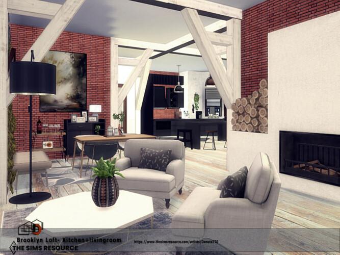 Brooklyn Loft Kitchen + Livingroom By Danuta720