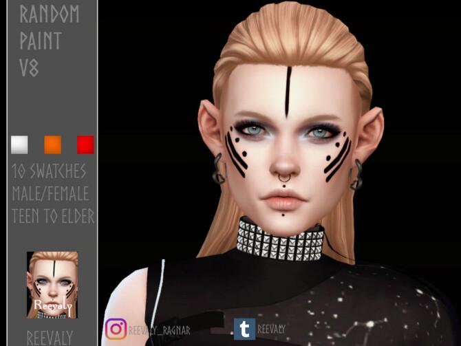 Sims 4 Random Face Paint V8 by at TSR