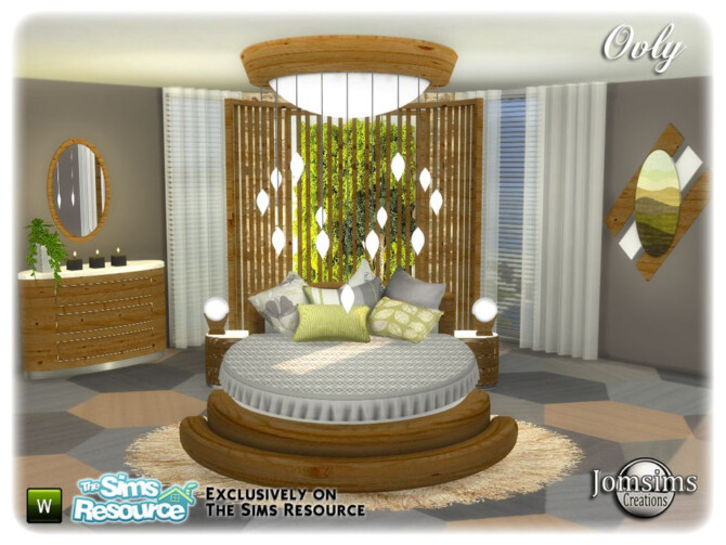 Sims 4 Ovly bedroom by jomsims at TSR