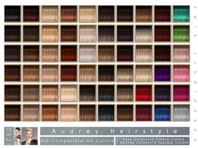 Sims 4 Audrey Hairstyle by DarkNighTt at TSR
