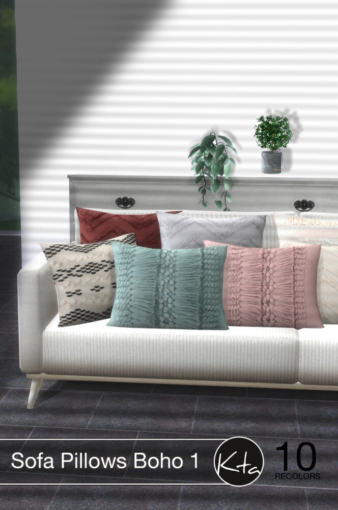 Sims 4 Sofa Pillows Boho 1 at Ktasims