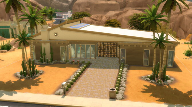 Sims 4 The Cloudscape Mid Century Modern Home by DominoPunkyHeart at Mod The Sims 4