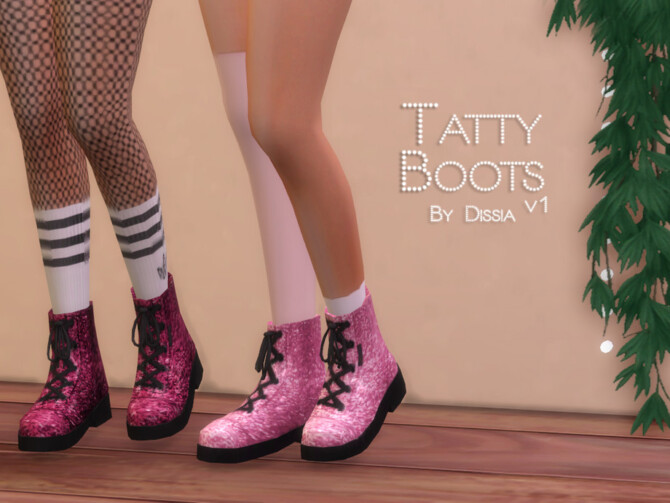 Sims 4 Tatty Boots v1 by Dissia at TSR