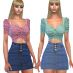 High Waisted Denim Skirts By Saliwa