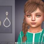 Crystal Teardrop Earrings For Toddlers By Feyona