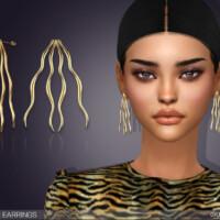 Wavy Fan Earrings By Feyona