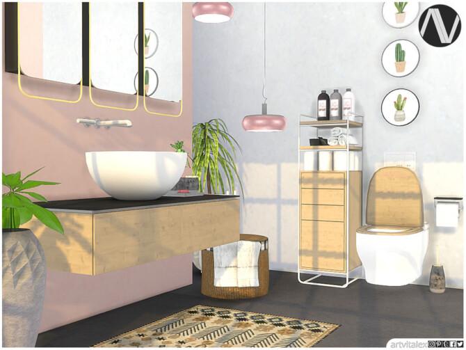 Sims 4 Zenica Bathroom by ArtVitalex at TSR