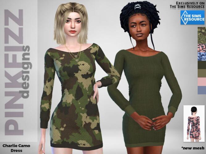 Charlie Camo Dress By Pinkfizzzzz