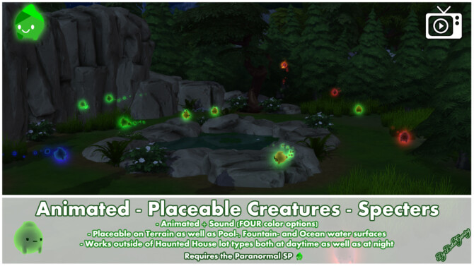Sims 4 Animated Placeable Creatures Specters by Bakie at Mod The Sims 4