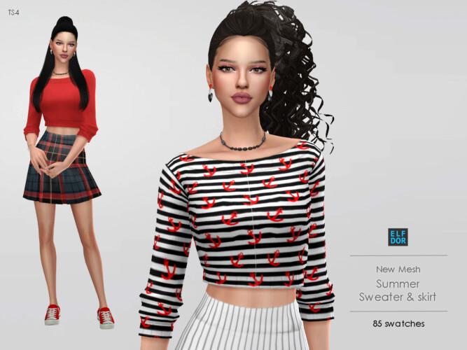 Summer Set: Sweater & Skirt