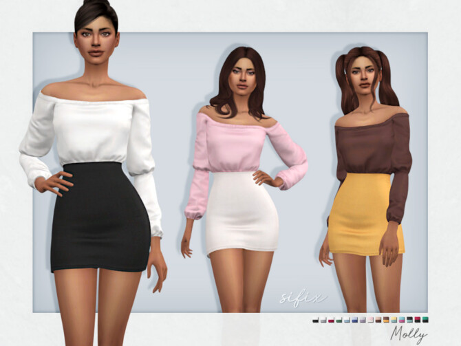 Sims 4 Molly Outfit by Sifix at TSR