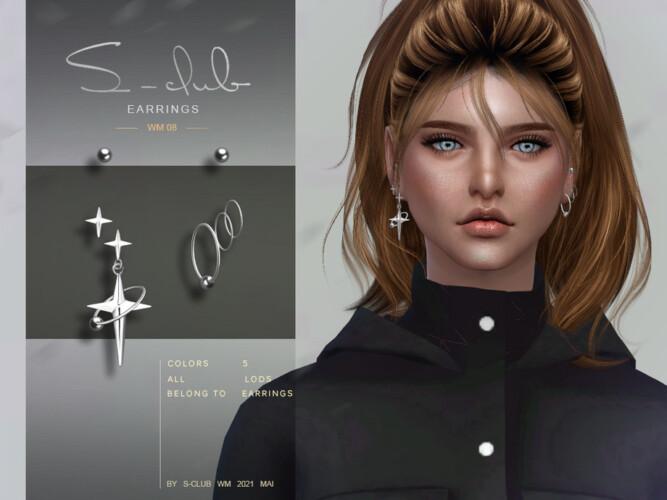 Earrings 202108 By S-club Wm