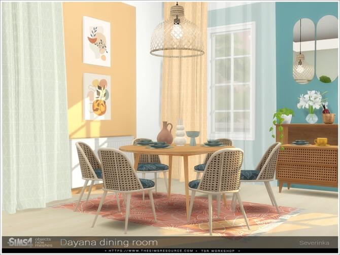 Sims 4 Dayana dining room by Severinka at TSR