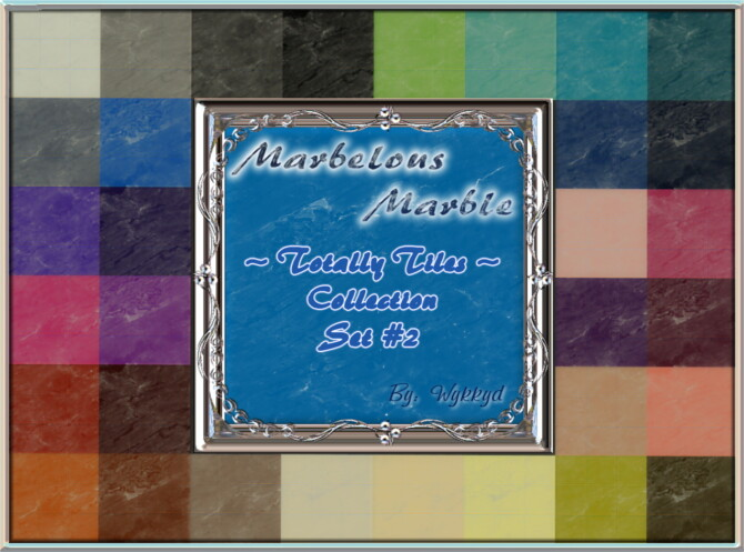 Totally Tiles Collection Set #2 Marble By Wykkyd