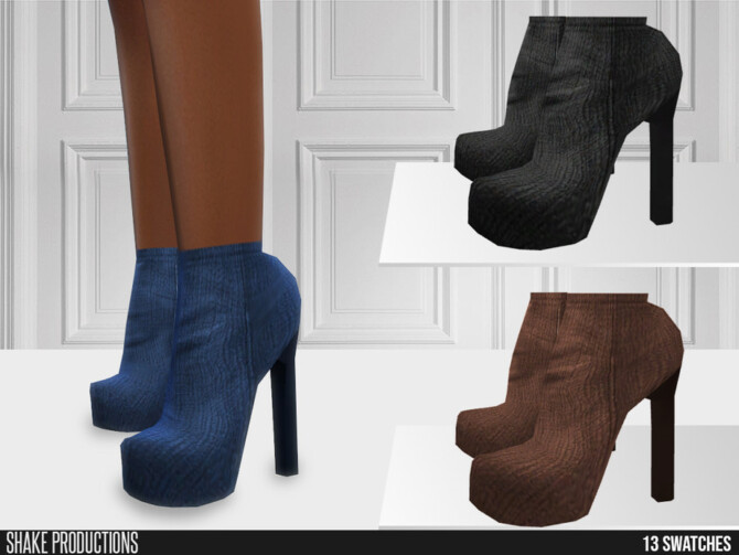Sims 4 668 High Heels Boots by ShakeProductions at TSR