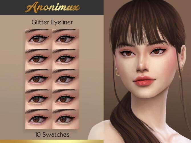 Sims 4 Glitter Eyeliner by Anonimux Simmer at TSR