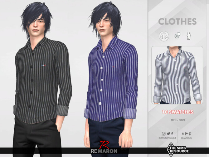 Sims 4 Formal Shirt 04 for Male Sim by remaron at TSR
