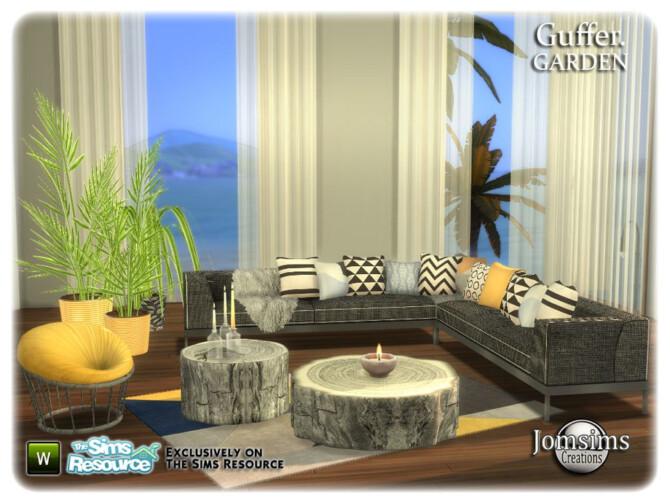 Sims 4 Guffer Garden Set by jomsims at TSR