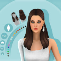 Zoey Hairstyle By Simcelebrity00