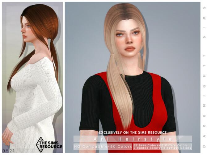 Sims 4 Ari Hairstyle by DarkNighTt at TSR