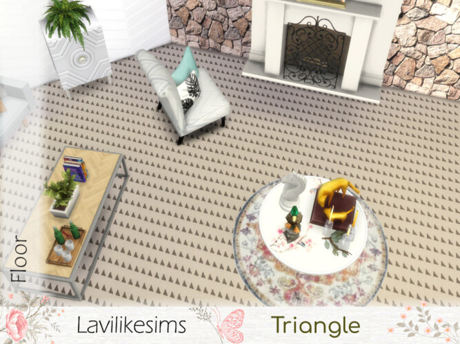 Triangle Floor By Lavilikesims