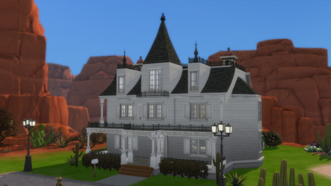 White Gothic Victorian House By Archie