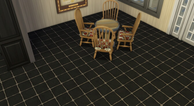 Sims 4 Solid Color Stone Tile Flooring by  Wykkyd at Mod The Sims 4