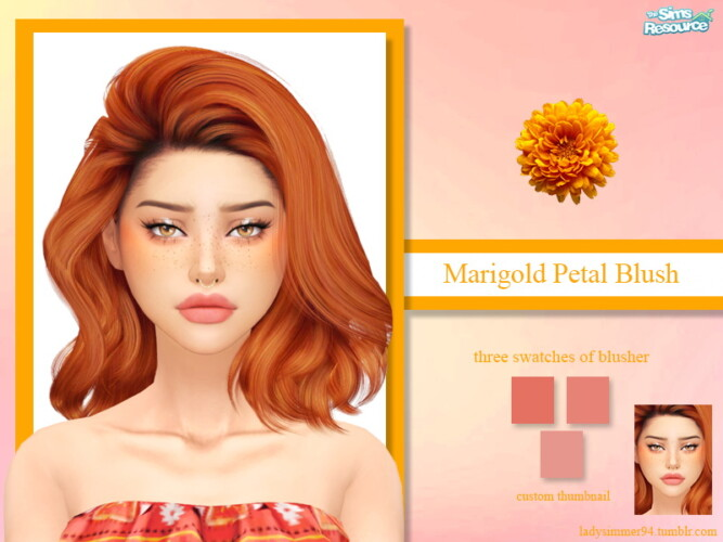 Marigold Petal Blush By Ladysimmer94