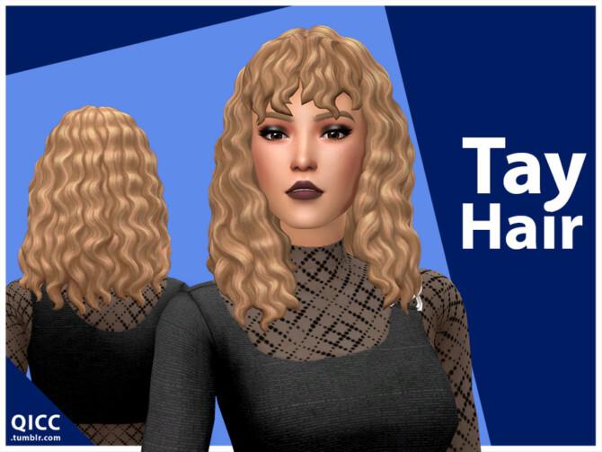 Sims 4 Tay Hair by qicc at TSR