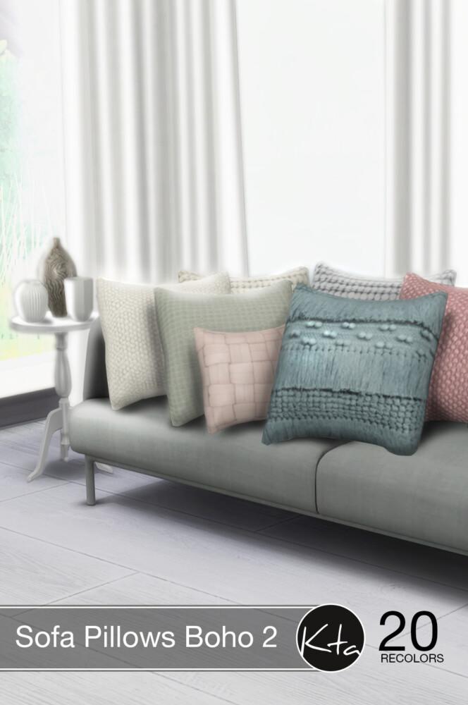 Sims 4 Sofa Pillows Boho 2 at Ktasims