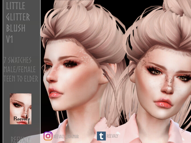 Sims 4 Little Glitter Blush V1 by Reevaly at TSR